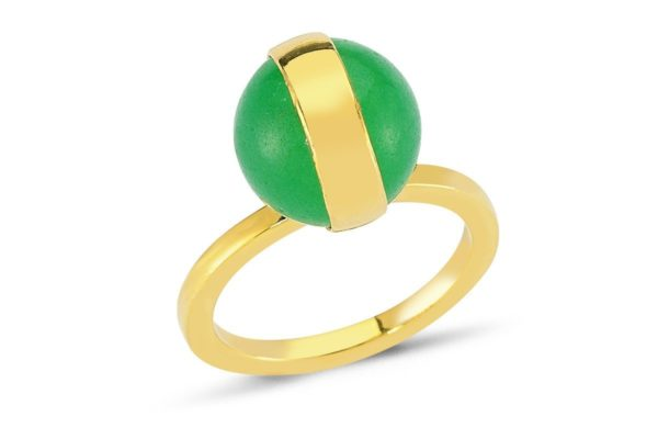 Sphere Aventurine Ring
