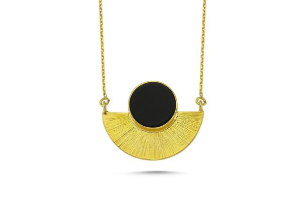 Round Onyx Single Necklace