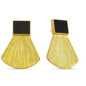 Rectangular Onyx Earrings