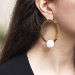 Chalcedony Big Earrings