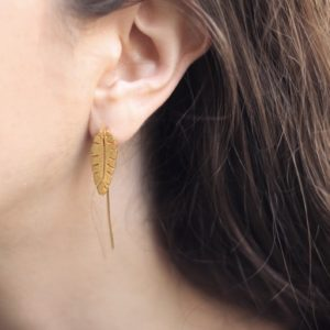 Banana Leaves Earcuff