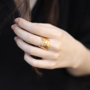Banana Leaves Ring