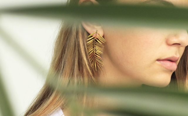Palm Big Earrings