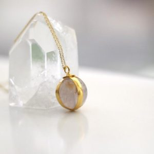 Ball Rose Quartz Necklace