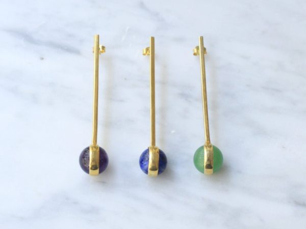 Sphere Single Long Earring
