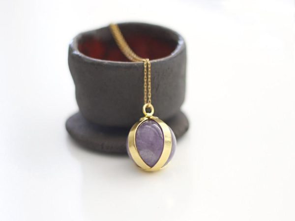 Ball Amethyst Necklace
