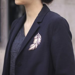Palm Big Brooch